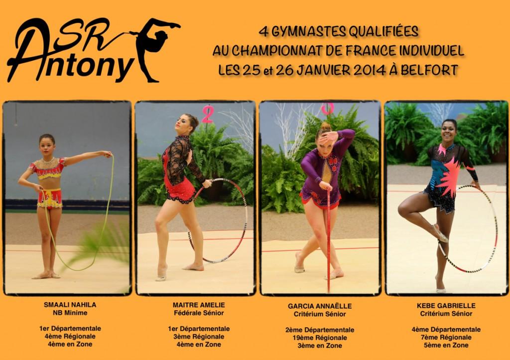 Qualifiées France Indiv 2014
