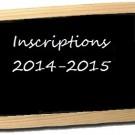 INSCRIPTIONS POUR LA SAISON 2014/2015