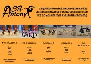 Qualifiées France Equipe 2015 UFOLEP