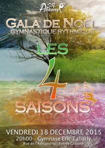 Affiche Gala de Noel 2015 - Les 4 saisons